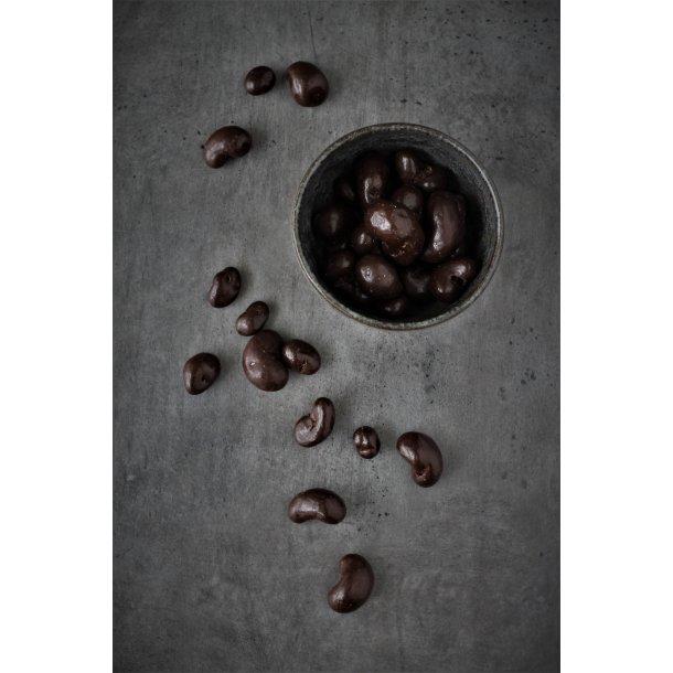 Cashew-nødder med mørk chokolade 200 gr.